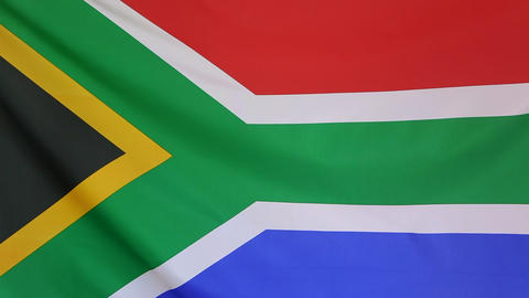 Flag of South Africa in slow motion Live Action