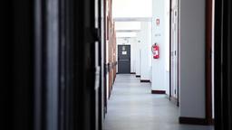 completely empty hospital corridor hall Footage