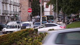 historical center of vila real town Portugal Footage