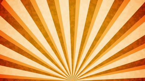 Orange Sun burst retro background design Animation