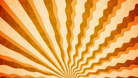 Orange Sunbeams grunge background Animation