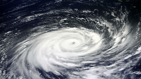 Typhoon, satellite view Animation