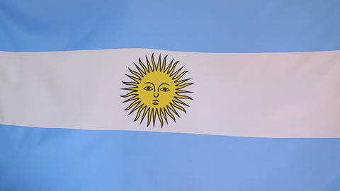 Textile flag of Argentina Footage