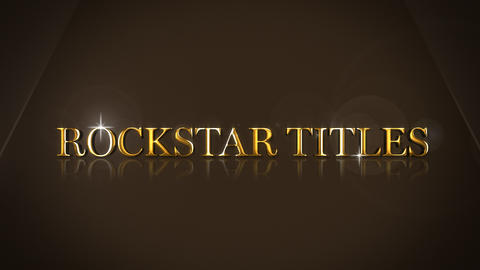 Rockstar Titles After Effects Template