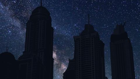 night time lapse of skyscrapers skyline, Kuwait Footage