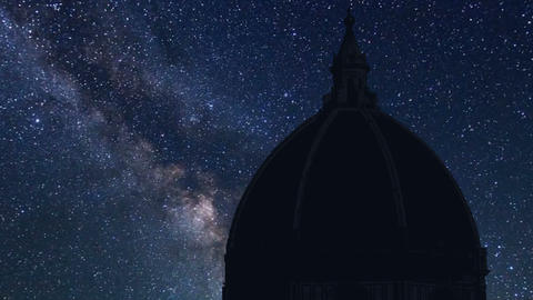 night time lapse of the cathedral Santa Maria Maggiore, Florence Footage