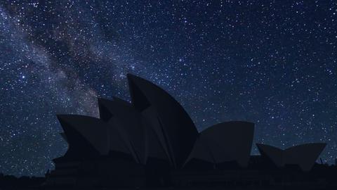 time lapse of night Sydney Opera, Australia Footage