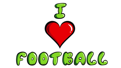I love football on white Animation