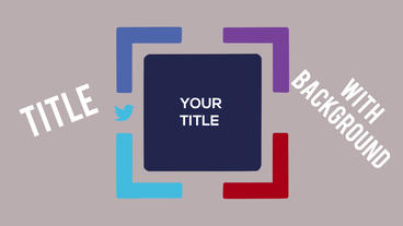Social Media Title Motion Graphics Template