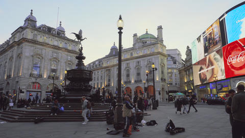 London, Uk - May 13, 2019: Piccadilly Circus junction crowded by people on May Live Action