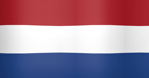 Waving Flag of Netherlands Looping Background Live Action