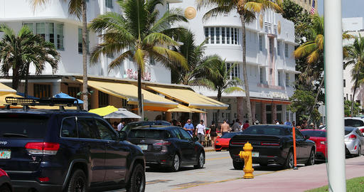 Ocean Drive In Miami Beach Live Action
