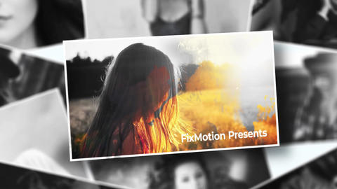 Ink Colorized Memory Photo After Effects Template
