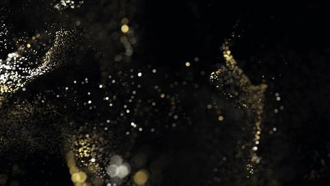 Golden glitter particles bokeh 03 Photo