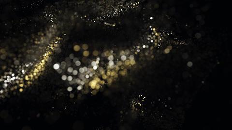 Golden glitter particles bokeh 07 Photo