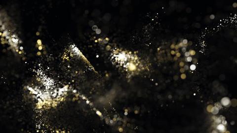 Golden glitter particles bokeh 09 Photo