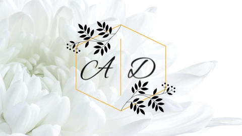 Elegant Flower Wedding Titles After Effects Template