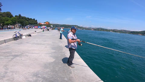 Fishing near the Bosphorus Live Action