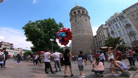 Istanbul Galata Tower Live Action