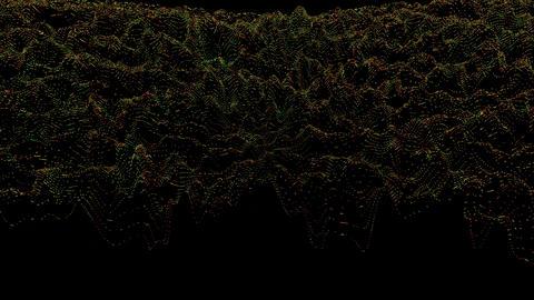 Hypnotizing distorted light transformations glittering background Footage