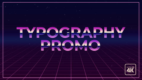 Typography Promo After Effects Template