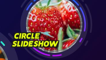 Circle Slideshow After Effects Template