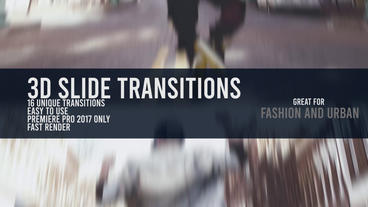 3D Slide Seamless Transitions Premiere Pro Template