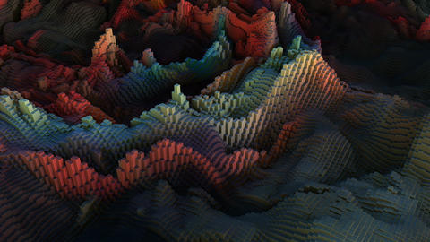 Abstract Landscape Block Wave, Banco de Videos Animados