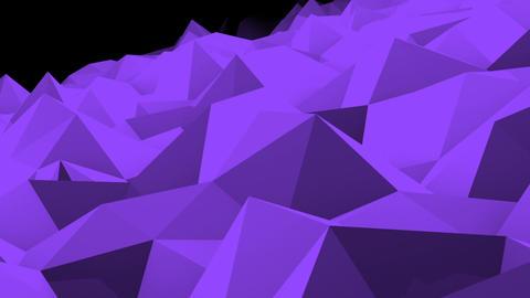 Abstract seamless triangular crystalline background animation Animation