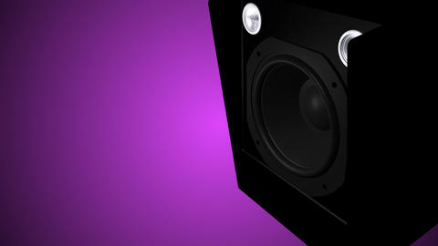 Closeup at moving sub-woofer Animation