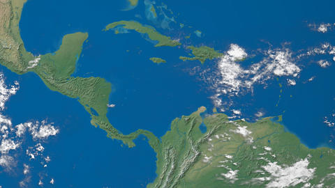 Earth Zooms to Central America Animation