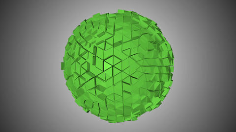 Abstract fractal sphere Animation