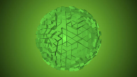 Abstract fractal sphere Stock Video Footage