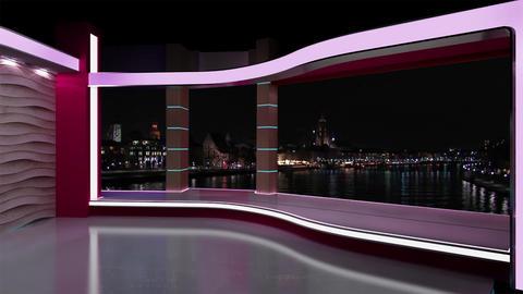 News TV Studio Set 181 - Virtual Background Loop Footage