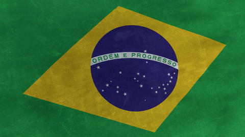 Flag of Brazil looping grunge background Animation