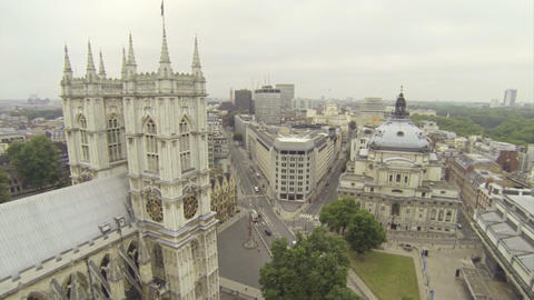 Above Westminster Abbey Footage