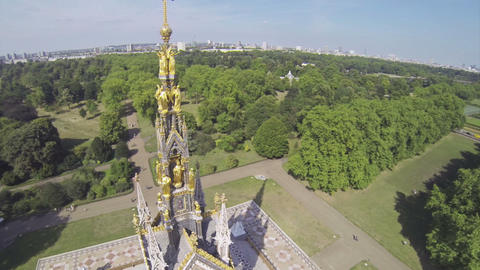 Albert memorial in Hyde Park Footage