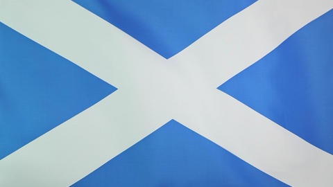 Flag of Scotland in slow motion Footage