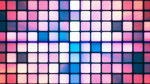 Broadcast Twinkling Hi-Tech Cubes, Blue Pink, Abstract, Loopable, 4K Animation