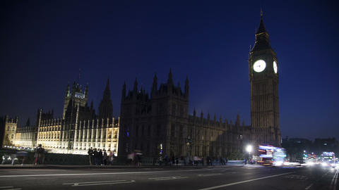 Traffic in front of Big Ben Footage