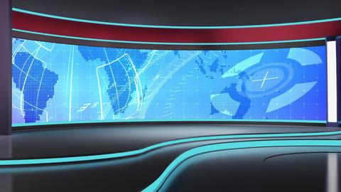 News TV Studio Set 183 - Virtual Background Loop Live Action