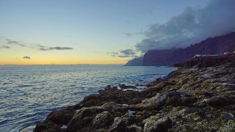 Ocean sunset Footage