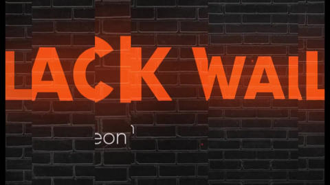 Slideshow - Black Wall Neon After Effects Template
