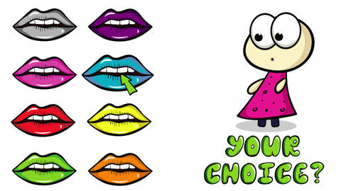 Lips colorful and your choice Animation