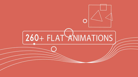 260+ Flat animations elements pack After Effects Template