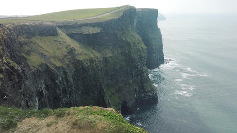 The Cliffs of Moher. Epic Irish Landscape Seascape along the wild atlantic way Footage
