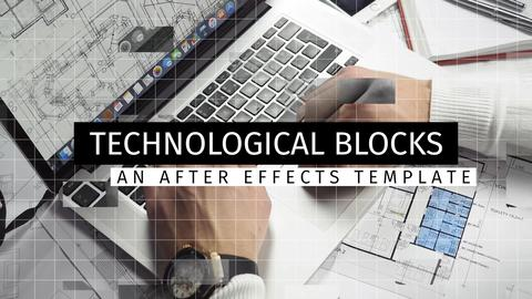 Technological Blocks After Effects Template