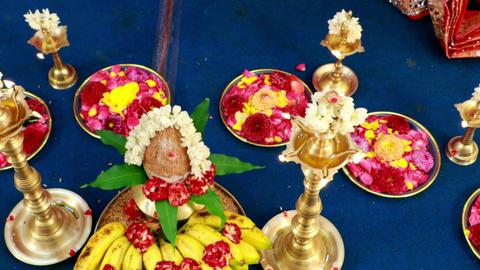 Traditional Hindu wedding ceremony Live Action