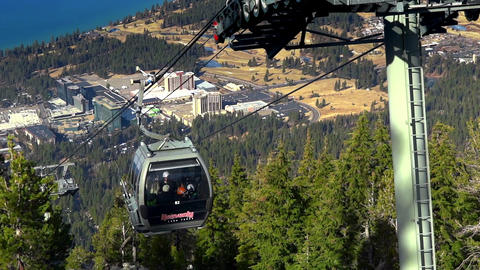 Closeup the Heavenly cabin ski lift 25th Dec 2018 California USA Live Action