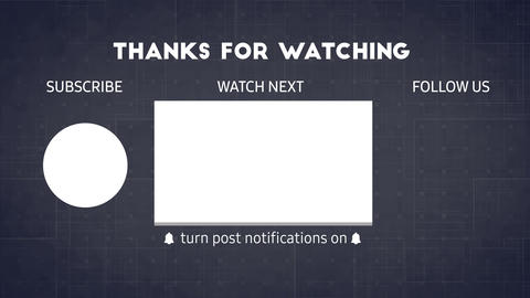 YouTube End Screen Video Template, Outro Card 005 Animation